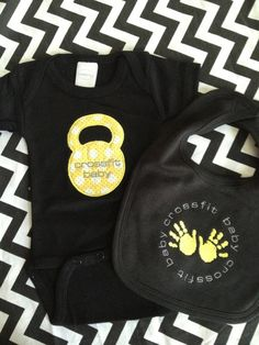 Crossfit Baby kettlebell Jumper and Matching Bib, MUST get these!