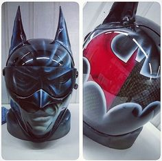 Batman airbrushed helmet