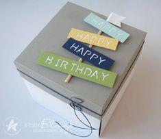 Birthday Explosion Box, Birthday Box, Handmade Birthday Gifts, Birthday Gifts For Best Friend, Handmade Christmas, Exploding Gift Box, Diy Diwali Decorations, Diy Crafts For Gifts, Marianne Design