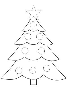 Triangle Christmas Tree Pattern Use The Printable Outline For
