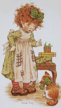 Sara Kay, Sweet Pic, Holly Hobbie, 8th Of March, Vintage Girls, Journal Cards, Cute Art, Painting & Drawing, Illustrators