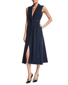 JASON WU Sleeveless Belted Gilet Dress, Dusk. #jasonwu #cloth #