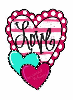 Wayward Whimsy by TheWaywardWhimsy on Etsy Cute Heart Drawings, Minnie Mouse Images, Teacher Door Hangers, Door Hanger Template, Love Wallpaper, Valentine Decorations, Painted Rocks, Diy And Crafts, Valentines
