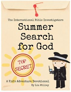 In The International Bible Investigators and the Summer Search for God, you'll find everything you need to guide your child through eight weeks of Summer fun that will also point him or her to God.