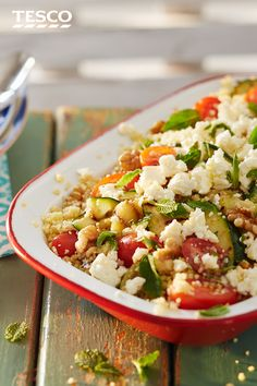 Treat your tastebuds to a trip to the Mediterranean with our delicious bbq couscous salad, featuring chargrilled, tender courgettes and a fragrant dressing. | Tesco