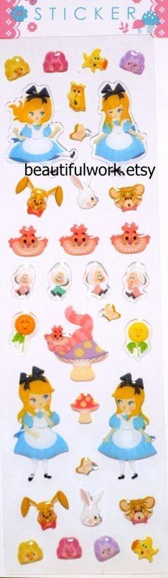 Alice in wonderland story theme Japanese sticker by beautifulwork, $3.98
