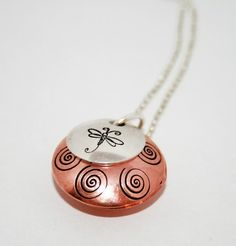 Never Forgotten  Copper and Silver Locket by bugaboojewelry, $15.00