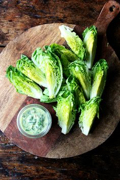 little gems with green goddess dressing