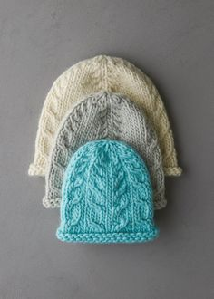 Ravelry: Beginner's Cable Hat pattern by Purl Soho Knitting Patterns Free, Free Knitting, Hat Patterns, Knitted Blankets, Knitted Hats, Small Knitting Projects, Sewing Projects, Knit Crochet, Crochet Hats