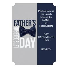 Let's Celebrate Fathers Day Party Invitations - fathers day best dad diy gift idea cyo personalize father family