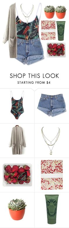 """""""t r o p i c a l"""" by credendovides ❤ liked on Polyvore featuring FRUIT, PLANT and Sisley"""