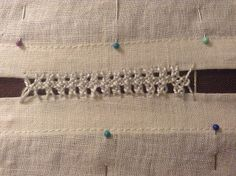 Interlaced Herringbone Insertion Stitch   The Compleatly Dressed Anachronist