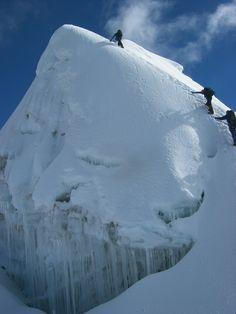 Last meters to reach the summit. via SummitPost
