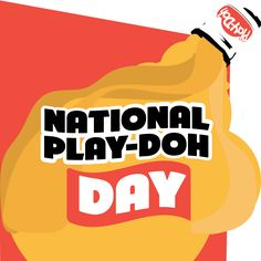 Go find a can of Play-Doh and let your imagination run wild. Use #NationalPlayDohDay to post on social media.
