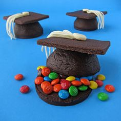 Pinata Cookies - Candy Filled Graduation Cap Cookies
