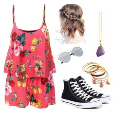 """Last Days of Summer"" by cclynn on Polyvore featuring LE3NO and Converse"