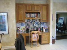 Rustic Craftsman Cherry Kitchen with Contrasting Espresso Island in Bel Air, MD. This is where we installed the built in display cabinet. Cherry Kitchen, Refacing Kitchen Cabinets, Before After Kitchen, Cabinet, Furniture, Display Cabinet, Kitchen, Custom Kitchen Cabinets, Home Decor
