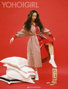 f(x) Krystal - Yoho! Krystal Fx, Jessica & Krystal, Krystal Jung Fashion, Blackpink Fashion, Fashion Trends, Sulli, Vogue Magazine, Woman Crush, Korean Girl Groups