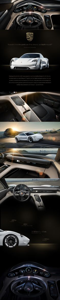 """Starting at Porsche AG in 2015 I was assigned as Lead User Interface Designer for the fully electric future sports car study """"Mission E"""". Together with the highly motivated engineers we came up with a completely new User Experience for Porsche. Using stat…"""