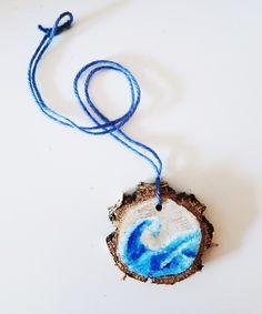 Wisiorek Morskie Fale - Pracownia_Kurpiowska - Wisiorki Crochet Earrings, Etsy, Vintage, Jewelry, Fashion, Moda, Jewlery, Jewerly, Fashion Styles
