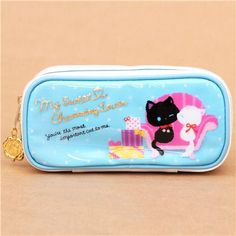 Kawaii Blue White Pouch Cat Couch Animal Pencil Case $12.35 http://thingsfromjapan.net/kawaii-blue-white-pouch-cat-couch-animal-pencil-case/ #kawaii cat item #cute cat pouch #cute cat accessory #Japanese cat stuff