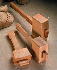 Carpenter's Beech Mallets - Woodworking