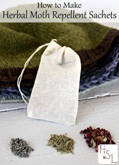 Protect those woolen treasures from moths with these easy & natural herbal moth repellent sachets.