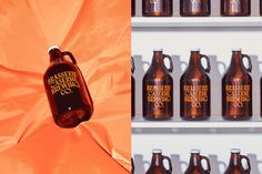 Is the Brasserie Caserne Brewing Co. the most convincing fictional beer brand ever? — The Brand Identity Label Design, Box Design, Graphic Design, Dark Beer Brands, Branding, Brand Identity, Beer Industry, Perfume Packaging, Brand Campaign