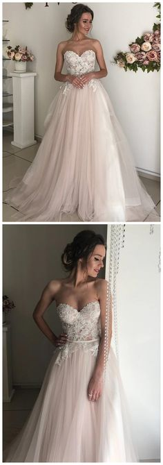 A-line Sweetheart Boho Wedding Dress Lace Romantic Wedding prom Dresses Wedding Dresses 2018, Black Wedding Dresses, Wedding Dresses Plus Size, Plus Size Wedding, Boho Wedding Dress, Bridal Dresses, Prom Dresses, Modest Wedding, Formal Dresses