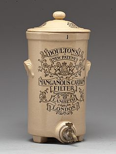 DRINK WATER TANKS, ceramics, England, early 1900s.
