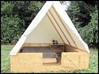 Image result for tent platform pallets