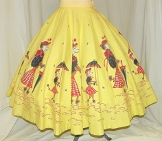 1950's Poodle Print Skirt