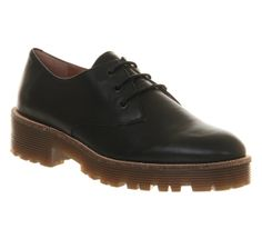 Office Prowl Black Leather - Flats