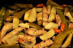Joe Gande: Chicken sausage and peppers w/ potatoes and olives...