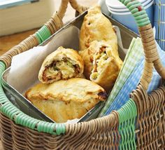 Cheese & Marmite pasties. Love it or hate it, Marmite works beautifully with cheese and onion when baked up in shortcrust parcels