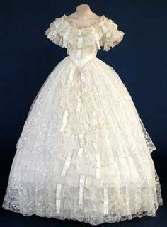 1860 wedding dress.
