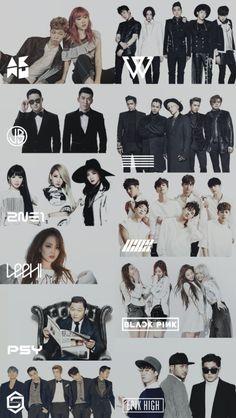 Welcome to YG Family Lockscreen World ! Family Meme, Family Logo, Vaporwave, Yg Groups, Big Bang Memes, Korean Entertainment Companies, Kpop Entertainment, Bigbang Wallpapers, Lee Hi