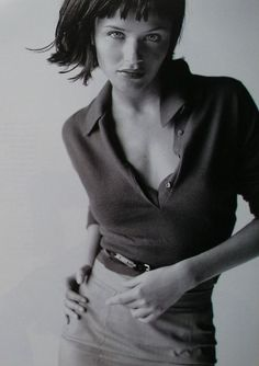 80s-90s-supermodels:Marie Claire US, May 1996, Photographer: Marc Hom, Model: Helena Christensen