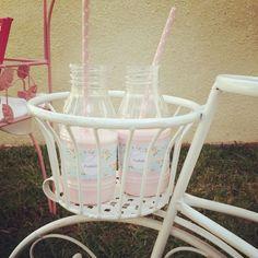 Milk at a Shabby chic baby shower #shabbychic #babyshower