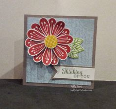 A mini card made with the #30yearsofhappy promotional stamp set and pretty petals stamp set from CTMH. The background paper is from Balloon Ride paper pack.