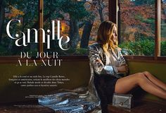 Camille Rowe stars in a fashion editorial for Air France Madame
