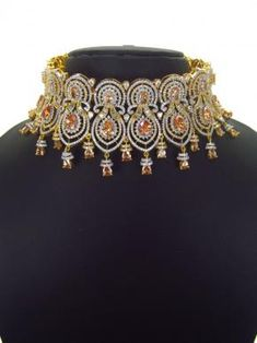 Choker Necklaces, Necklace Set, Chokers, 1 Carat, Carat Gold, Silver Color, Jewelry Sets, Jewerly, Schmuck