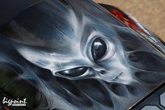 Eine Honda CBR 600 RR mit coolem Airbrush Design von Andras Bathory / BigPoint…