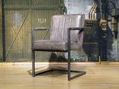 Stoere industriele stoel gemaakt van 100% handgewassen ongecorrigeerd…