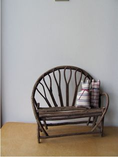 Miniature Twig Furniture | Twig Bench Miniature, Wood Doll Furniture, or for Decor, Natural ...