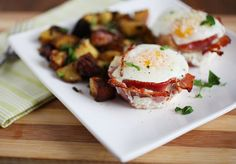 Bacon & Egg Cups by Crepes of Wrath; Will definitely make this sometime, but I think I'll substitute the bacon for turkey bacon! Yum