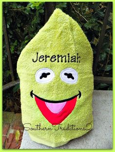 Personalized Hooded Kermit the Frog Towel by SouthernTraditions2, $28.00