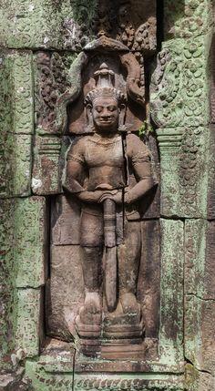 Dvarapala, Banteay Kdei, Angkor, Cambodia