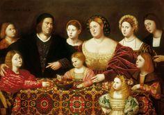 Bernardino Licinio (c. 1489 – 1565) A Family Group. 1524. In the Royal Collection, UK