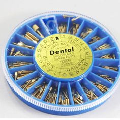 240Pcs Assorted Dental Conical Screw Posts Kits Refills 24K Gold Plated A+++